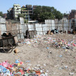 Garbage in Khatmandu — Stock Photo