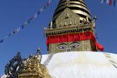 Stupa with eyes — Stock Photo