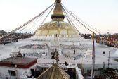 Morning and stupa — Stock Photo