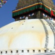 Stupa and flags — Stock Photo