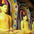 Stock Photo: Seated Buddhas