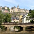 Alzette river in Luxembourg — Stock Photo