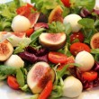 Fig, tomato and mozzarella salad — Stock Photo