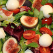Stock Photo: Fig, tomato and mozzarella salad