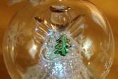 Christmas ball with angel — Stock Photo