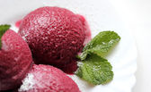 Berry sorbet red ice-cream — Stock Photo