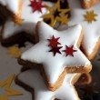 Christmas cookies - stars — Stock Photo