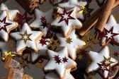 Biscoitos de natal - estrelas — Fotografia Stock