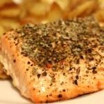 Salmon Steak — Stock Photo #40165943