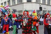 Clown at carnival street parade — Stock Photo