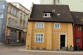 Bar Zur Fahre. Historical house in Stralsund — Stock Photo