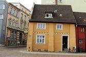 Bar Zur Fahre. Historical house in Stralsund — Stock Photo