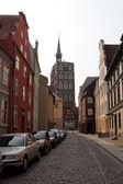 Old street in Stralsund — Stock Photo