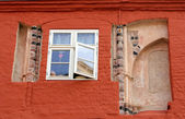 Fasade of historical house in Stralsund — Stock Photo