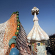Stock Photo: Gaudi Chimneys at CasMila