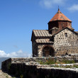 Medieval church on Sevan lake — Stock Photo