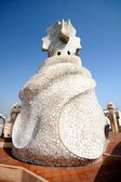 Gaudi Chimneys at Casa Mila — Stock Photo
