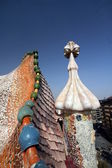 Gaudi Chimneys at Casa Mila — Stockfoto