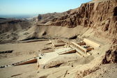 Valley of Kings and the tempel of Hatchepsut — Stock Photo