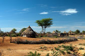 Cabana tribal africana — Foto Stock