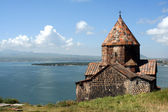Medieval church on Sevan lake — Stockfoto