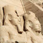 Temple of King Ramses II in Abu Simbel, Egypt — Stock Photo #12385617