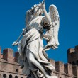 Bernini's marble statue of angel - Stock Photo