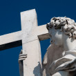 Bernini's marble statue of angel — Stock Photo