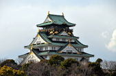Exterior of Hiroshima Castle in Hiroshima — Stock Photo