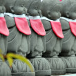 Rows of the small japanese Jizo statues — Stock Photo