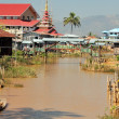 Houses at Inle lake, Myanmar — Stock Photo