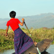 Stock Photo: Fishermen on lake Inle
