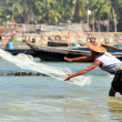 Burmese fishermen — Stock Photo