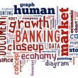 Banking word cloud — Stock Photo