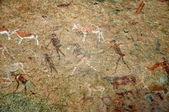 Bushmen rock painting — Stock Photo