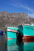 Turquoise Fishing Boats — Stock fotografie