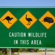 Australian Wildlife Sign — Stock Photo