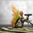Yellow wings fairy — Stock Photo