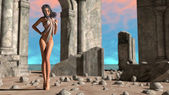 Elf and ruins — Stockfoto