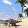 Stock Photo: Dicraeosaurus on shore
