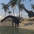Stock Photo: Brachuosaurus on shore