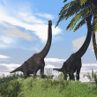 Brachiosaurus on grass terrain — Stock Photo
