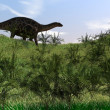 Dicraeosaurus walking on hill — Stock Photo #12172619