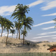 Kentrosaurus on shore — Stock Photo