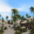 Einiosaurus in sandy jungle — Stock Photo #12172821