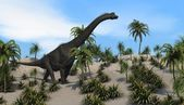 Brachiosaurus walking — Stock Photo