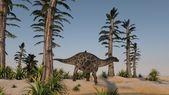 Dicraeosaurus on shore — Stock Photo
