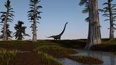 Brachiosaurus göl — Stok fotoğraf