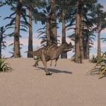 Ceratosaurus  dinosaur — Stock Photo #45297899