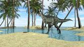 Monolophosaurus dinosaur — Stock Photo